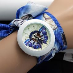shsby new floral chiffon sweet girls watch Sweet chiffon fabric women dress watches fashion Ladies flower cloth wrist watch #>=#>=#>=#>=#> Click on the pin to check out discount price, color, size, shipping, etc. Save and like it!