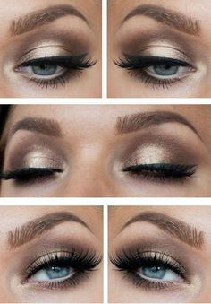 Magical make-up tips for the perfect make-up - Halloween make-up ideas - . - Make-Up - eye make up makeup makeup up artistico up night party make up make up gold eye make up eye make up make up Love Makeup, Makeup Inspo, Makeup Inspiration, Girls Makeup, Black Makeup, Gorgeous Makeup, Perfect Makeup, Makeup Trends, Golden Makeup