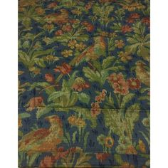 Schumacher Greeff Canterbury Hill Classic English Tapestry Style Multi-Purpose Cotton Print Fabric - 2.75 Yds | Chairish Navy Fabric, Textile Fabrics, To Color, Canterbury, Schumacher, Blue Backgrounds, Printing On Fabric, Deer, Purpose