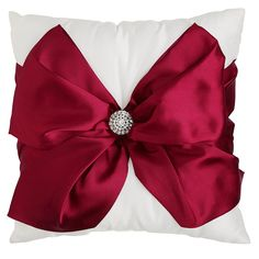 Red Bow Pillow