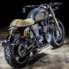 Triumph Thruxton R 'Neo 001' Scrambler by Hedonic France #motorcycle #motorbike