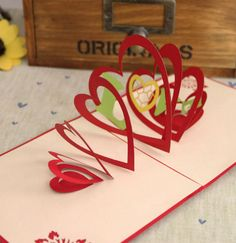 Confession of love handmade three-dimensional paper sculpture creative holiday greeting card Valentine birthday