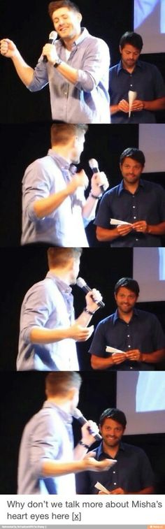 Omg it's like he's looking at Jensen's soul and falling in love, umm can we put this in a SPN episode please?