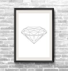 Hey, I found this really awesome Etsy listing at https://www.etsy.com/listing/192458573/diamond-geometric-triangles-print-11x16
