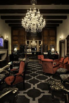 5 Rooms restaurant located at the historic Alphen Estate in Constantia Luxury Living, Places To Eat, Chandelier, Restaurant, Ceiling Lights, Chair, Lighting, Interior, Table