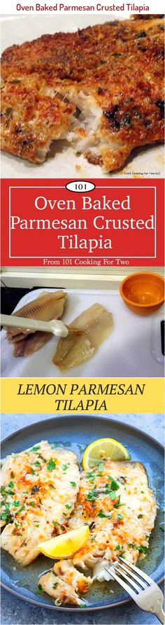 This easy oven baked Parmesan crusted tilapia is just wonderful with a crispy flavorful Parmesan crust from only a few everyday ingredients. Talipia Recipes, Parmesan Crusted Tilapia, Cooking For Two, Oven Baked, French Toast, Baking, Breakfast, Easy, Backen