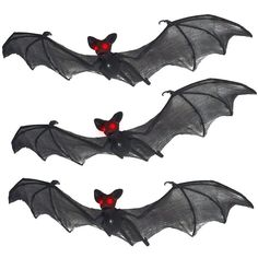 Prextex Halloween Décor Set of 3 Realistic Looking Spooky Nylon... ($16) ❤ liked on Polyvore featuring home, home decor, holiday decorations and halloween home decor