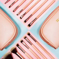 Get C H I C with the brush set that will help you blend, brush, line + define The BH Chic - 14 Piece Brush Set with Cosmetic Case #BHCosmetics #Brushes #MakeupBrushes