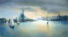 Janine Gallizia, light & atmosphere | Watercolors Painting