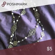 Long Necklace Lightweight but pretty. Versatile. Jewelry Necklaces