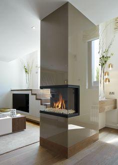 Molins Interiors // arquitectura interior - salón - comedor - chimenea - mobiliario - barcelona