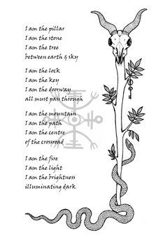 """Book of Shadows: """"Witch's Riddle,"""" by Sarah Anne Lawless, page. I Am The Doorway, Traditional Witchcraft, Pagan Witchcraft, Wiccan Crafts, Book Of Shadows, Black Art, Spelling, Mystic, Paganism"""