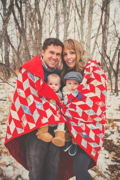 Fun blanket idea. Lots of other cute shots on this site.