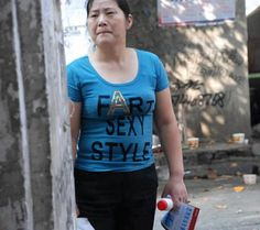 Funny photos of Asians wearing hilarious Engrish t-shirts. Funny photos of Asians wearing hilarious Engrish t-shirts. Fashion Fail, Fashion Outfits, Offensive Shirts, Japanese Funny, Slogan Tee, Girl Humor, Japanese Fashion, Funny Tshirts, Funny Pictures