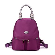 28.99 Trendy College Girl Backpack Fashionable New design in Adorable Purple-Wine color