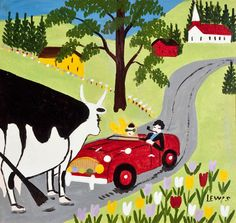 maud lewis | Road Block' by Maud Lewis at Mayberry Fine Art