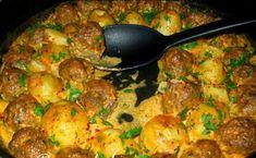 Mini karbonátky so zemiakmi pečené v jednom pekáči Sauce Recipes, Meat Recipes, Cooking Recipes, Healthy Recipes, Croation Recipes, Cottage Meals, Mince Dishes, Bosnian Recipes, Macedonian Food