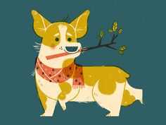 Other times I feel like a corgi by Lydia Nichols Popular Cute Animal Illustration, Retro Illustration, Character Illustration, Graphic Design Illustration, Male Character, Fantasy Character, Character Design, Art For Art Sake, Palette