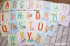 alphabet sewing card printables - the handmade home
