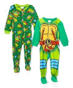 Teenage Mutant Ninja Turtles Footie Pajama Set - Toddler by Teenage Mutant Ninja Turtles #zulily #zulilyfinds