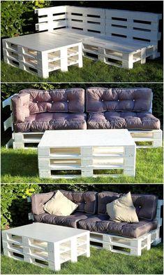 Pallet Garden Furniture, Outdoor Furniture Sets, Decoration Palette, Outdoor Seating, Outdoor Decor, Diy Patio, Pasta, Backyard, Home Decor