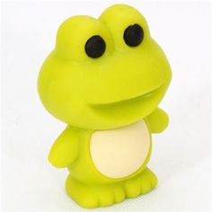 cute green frog eraser from Japan by Iwako 1