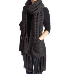 A personal favorite from my Etsy shop https://www.etsy.com/listing/249461063/gorgeous-knitted-pocketed-wrapscarf