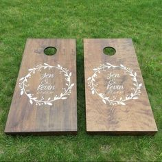 https://www.etsy.com/shop/TheTECHBoards  Wedding Cornhole Boards - Customize any way you like it Cornhole Boards for your big day!