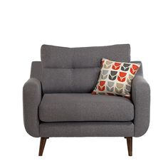 This retro inspired Myers cuddler chair is perfect for a modern Scandi interior.
