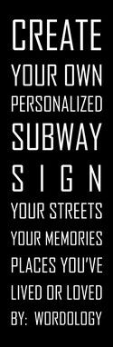 Choose Your Destinations CANVAS Subway Sign by wordology on Etsy, $149.00
