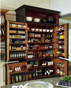 Super organized, free-standing pantry!