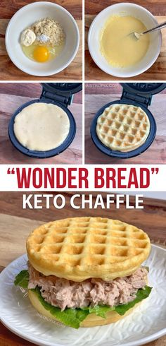 ) - Instrupix This easy keto waffle recipe is made with simple ingredients: almond flour, mayo, egg and baking powder. An absolutely amazing mini waffle maker recipe that makes for excellent low carb sandwich bread! Low Carb Bread, Low Carb Keto, Bread Diet, Ketogenic Recipes, Keto Recipes, Recipes Dinner, Breakfast Recipes, Dessert Recipes, Ketogenic Diet