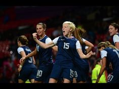 USA midfielder (15) Megan Rapinoe celebrates her goal in the second half against Canada in the semi finals