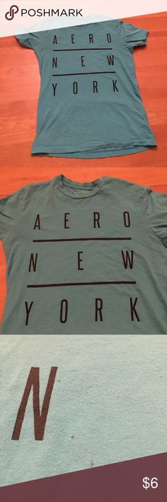 Men's Aeropostale Tee Teal men's tee with small black spots scene in picture 3 Aeropostale Shirts Tees - Short Sleeve