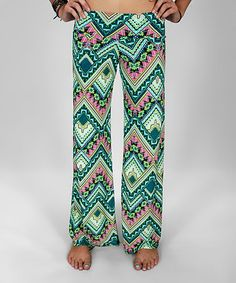 f20b05c90 Look at this  zulilyfind! Pink Tribal Palazzo Pants by Rated G  zulilyfinds  Palazzo