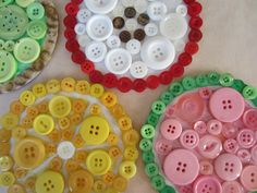 Fruit button coasters!! Aren't they awesome?