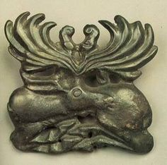 Bronze Bridle Plaque in the Form of a Resting Stag scythian Mid century BC Bronze x cm Krasnodar region, Kuban area Seven Brothers burial mound This bridle plaque is in the shape of a recumbent stag with large stylized antlers. Archaeological Discoveries, Hermitage Museum, Le Far West, Ukraine, Ancient Jewelry, Animal Fashion, Ancient Artifacts, Ancient History, Game Art
