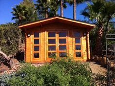 """Natural cabin comes like a kit, for extra price i can set it up for costumers.  Modern cabin has natural wood(pine)flooring, walls(1 3/8"""" ), ceilings, window and doors with temper glass, lock and handels."""