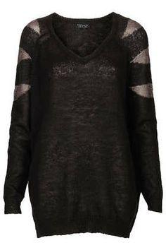 Shimmer Yarn Sleeve Jumper $45