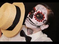 Mens Dia de los muertos (day of the dead) face paint tutorial