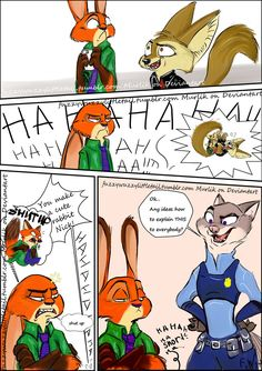 Comic: It is not easy to be a fox or a bunny (by FuzzyWuzzyLittleTail) - Zootopia News Network