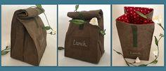 Lunchbag aus SnapPap (veganes Leder)
