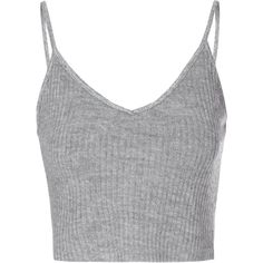 Charcoal Ribbed V Neck Crop Top (42 BRL) ❤ liked on Polyvore featuring tops, crop tops, shirts, tank tops, grey, v-neck tops, cropped tops, gray shirt, ribbed crop top and v-neck shirt