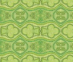 Fabric: Shamrocked by katiame on Spoonflower - Zentangle drawing, ink on paper.