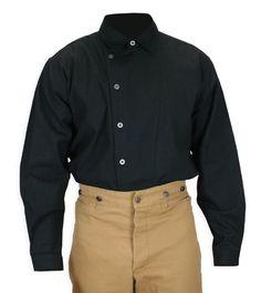 Floyd Side-Button Shirt - Black