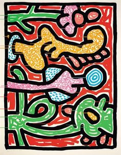 Dancing dogs and cats detail art cat cats dogs - Keith haring shower curtain ...