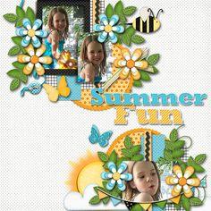 Summer Fun Scrapbooking Layout Idea