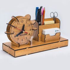 The vector file Laser Cut Organizer Clock Pen Slip Pad Holder CDR File is a Coreldraw cdr ( .cdr ) file type, size is KB, under desk organizer vectors. Laser Cut Lamps, Laser Cut Mdf, 3d Laser, Laser Cutting, Wood Cutting, Laser Cut Files, Laser Cutter Ideas, Laser Cutter Projects, Woodworking Plans