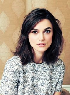 Shoulder-length hair // Kiera Knightly is so gorgeous. I'm getting this hair cut once I actually muster up enough courage to chop off my long locks.