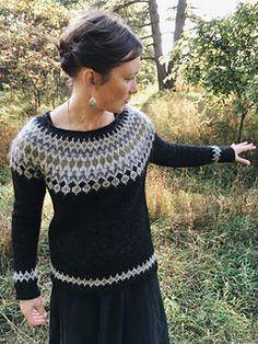 Ravelry: Treysta pattern by Jennifer Steingass Fair Isle Knitting, Knitting Socks, Punto Fair Isle, Nordic Sweater, Icelandic Sweaters, Preppy Casual, Sweater Design, Knit Or Crochet, Knitting Designs